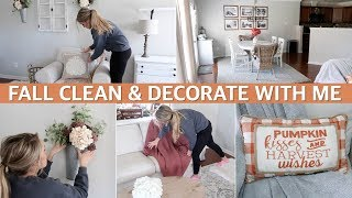 FALL CLEAN AND DECORATE WITH ME 2019 | FALL HOUSE TOUR - FALL DECORATING IDEAS