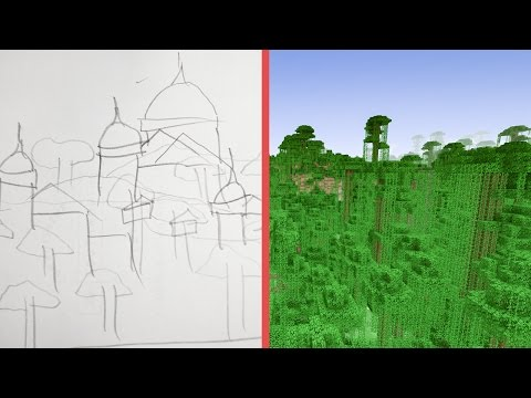 Minecraft Building w/ BdoubleO :: Planning A Jungle Kingdom! 430