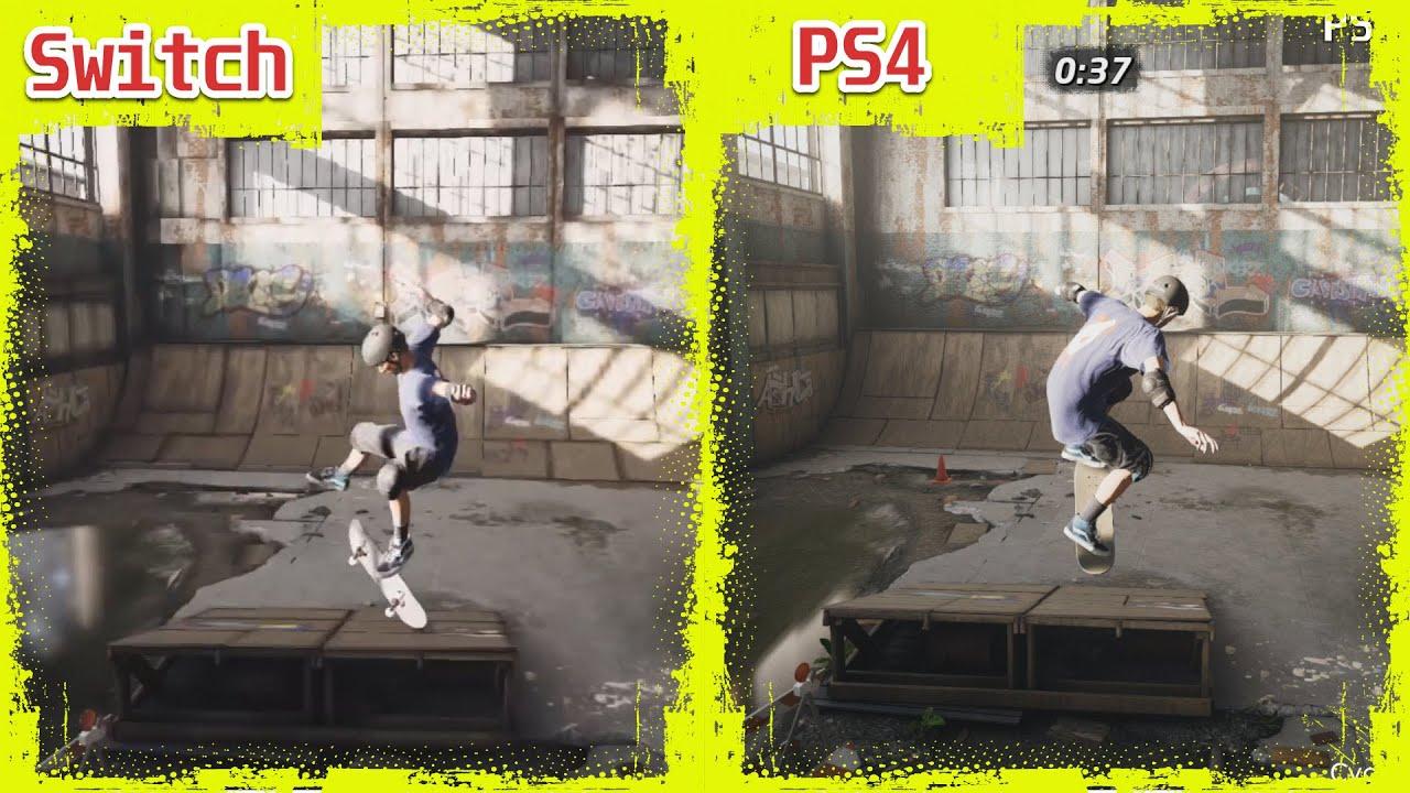 Συγκριτικό του Tony Hawk 1+2 ανάμεσα σε Playstation 4 και Switch