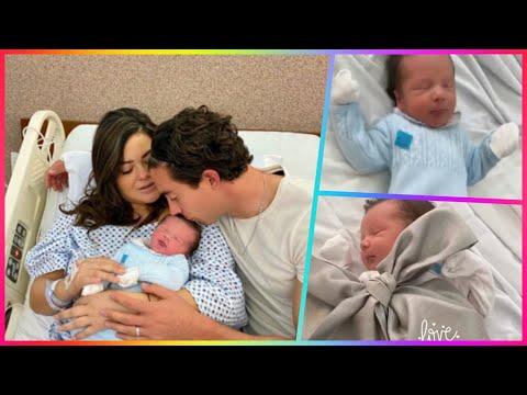 Mariana Echeverria y Oscar Jimenez presentan a su hijo recién nacido Lucca