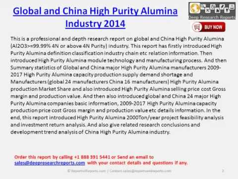 World & Chinese High Purity Alumina 2014 Industry Research