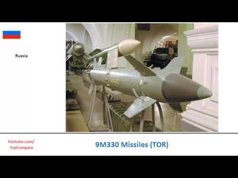 9M330 Missiles (TOR), defence missiles all specs comparison
