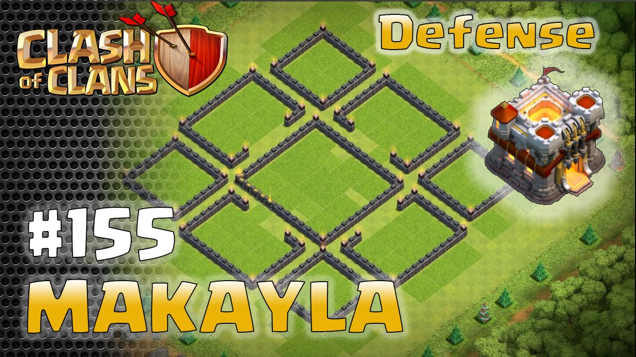 Town hall base defense layout makayla clash of clans