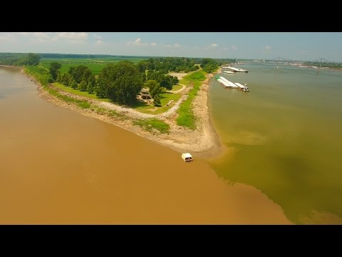Where Two Rivers Meet - Recycled Mississippi #21