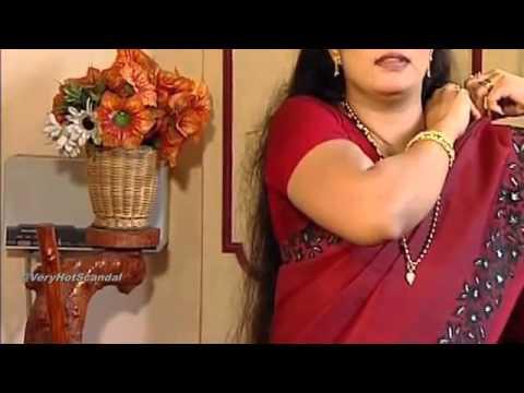 mallu serial actress hot shows in saree   youtube