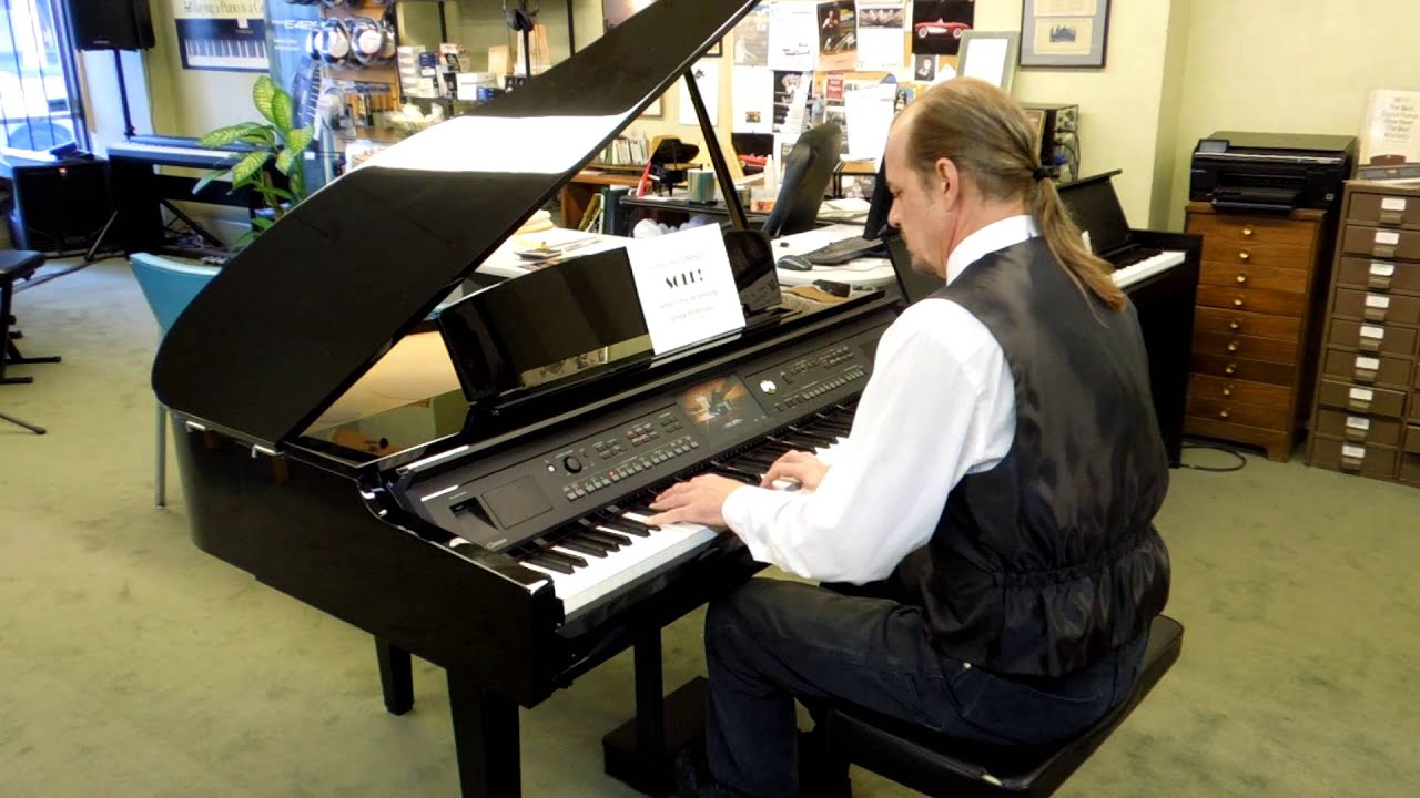Yamaha clavinova cvp609gp digital grand piano test drive for Yamaha mini grand piano price