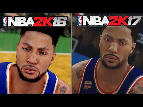 NBA 2K17 vs NBA 2K16 Face/Graphics Comparison - 2nd Official Trailer