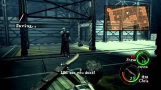 Resident evil 5 playthrough part 16 Chapter 6-3 Bridge deck + Final boss battles