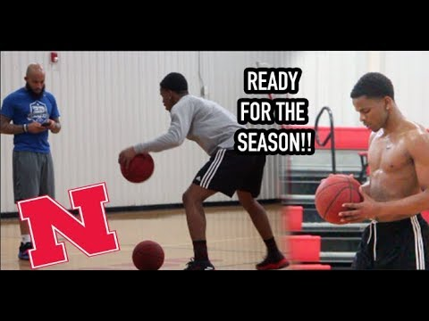 Nebraska's Thomas Allen READY FOR A BIG YEAR! Workout w/ 3D Basketball!