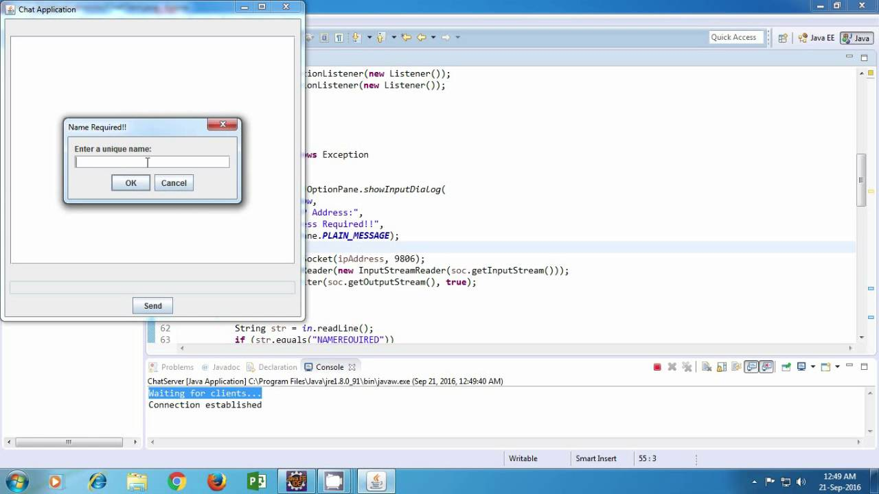 Java chat application tutorial youtube java chat application tutorial baditri Choice Image