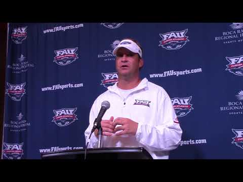 FAU vs. North Texas Press Conference • Lane Kiffin • Oct. 21, 2017