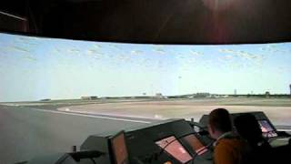 Ульяновское высшее авиационное училище ГА.(Ульяновское высшее авиационное училище ГА. Тренажер диспов, вид из кабины самолета., 2010-09-19T19:59:56.000Z)