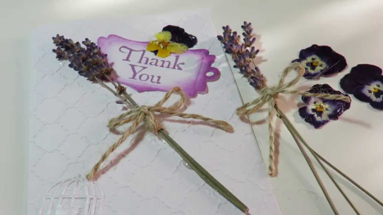 Tutorial Make A Card Using Dried Flowers V3 Youtube