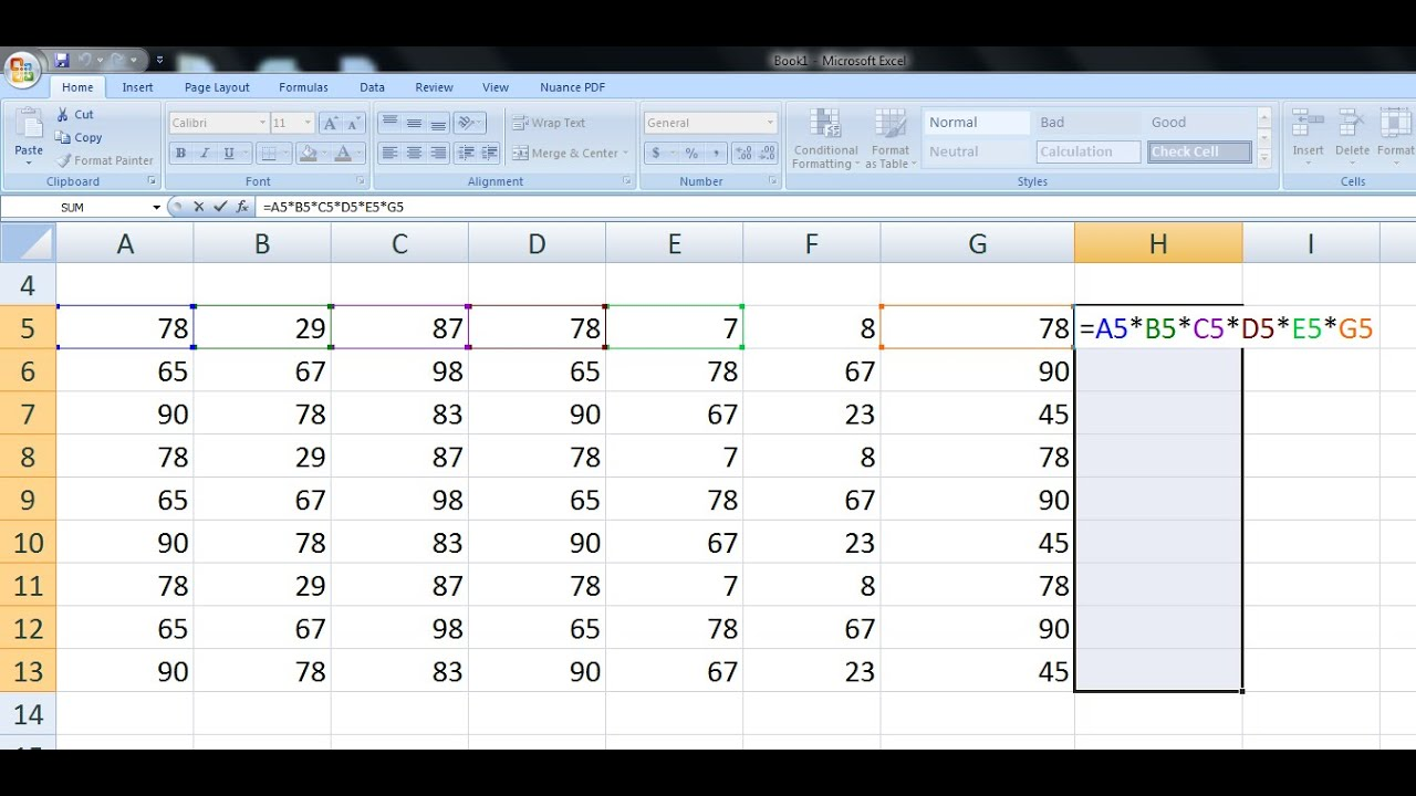 Shortcut Keys for Formulas & Calculation in MS Excel (+*-/%) - YouTube