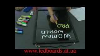Рекламные вывески Flash-Art для рисования маркером(www.ledboards.at.ua www.flash-art.biz Пишете маркером -- светится неоном! Оригинальная рекламная вывеска - отличный шанс..., 2012-12-06T17:24:31.000Z)