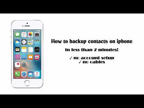 How to backup contacts on iphone in less than 2 minutes!