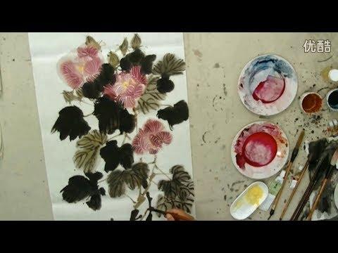 Chinese Lotus painting demonstration