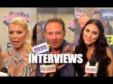 My s with Tara Reid, Ian Ziering, and Cassie Scerbo at 'SHARKNADO 6' Red Carpet Premiere