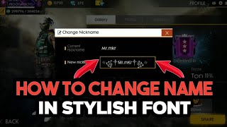 HOW TO CHANGE NAME IN STYLISH & DECORATED FONTS IN FREEFIRE BATTELGROUND FULL EXPLAIN!!