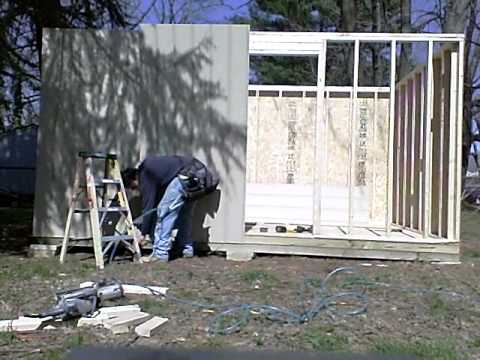 Hanging Smartside with a Bostitch siding nailer