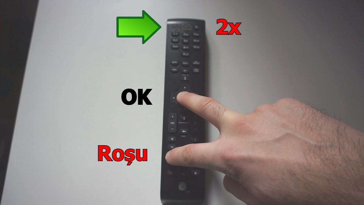 (RO) Sincronizare Telecomanda UPC cu Televizorul