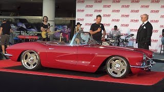 Dave Kindig Reveals his Lingenfelter Powered 1962 Corvette at SEMA 2018.