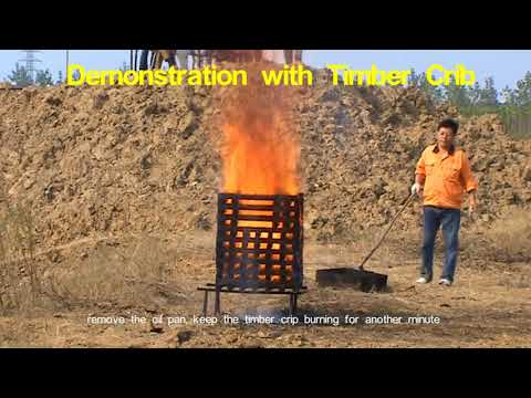 Automatic fire extinguishers Demonstration with timber crib MCW water P4