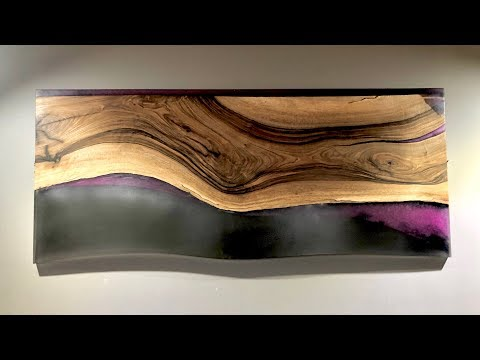 Epoxy Resin wall art - Pink,  Black Walnut Wall Hanging