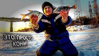 ЛЕСКА ТРЕЩИТ Первый лед 2020 21 Зимняя рыбалка 2020 Ловля Леща на Безмотылку