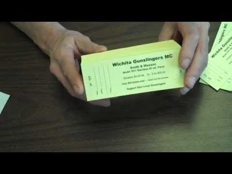 Raffle Ticket Stapling  Padding - wwwraffleticket - YouTube - how to make tickets on word