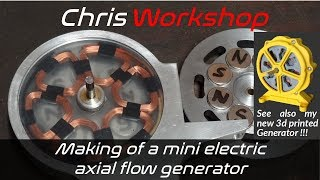 Making an axial fllow generator