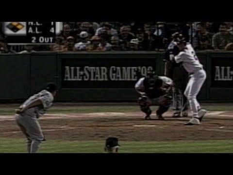 1999 ASG: Derek Jeter Mimics Nomar's Batting Routine