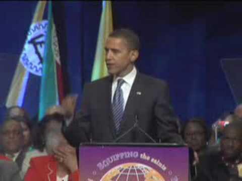 Barack Obama's faith speech clip - YouTube
