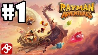 Repeat youtube video Rayman Adventures (By Ubisoft) iOS / Android Gameplay Video - Part 1