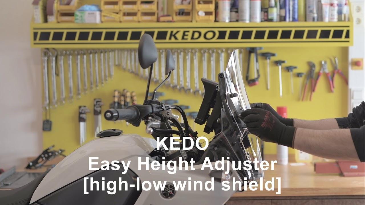 Tenere 700 T7 T700 KEDO Frontscheibenadapter Scheiben-Versteller Black Edition