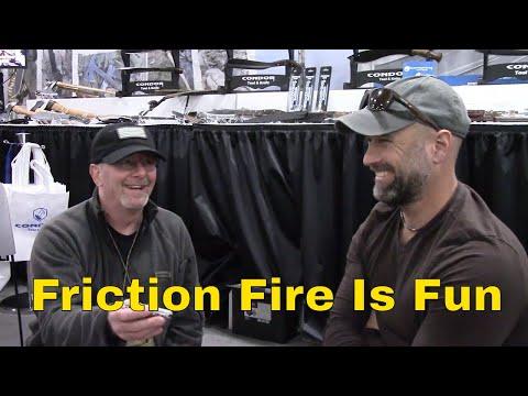 Bow Drill Fire lesson From Matt Graham - SHOT Show 2018