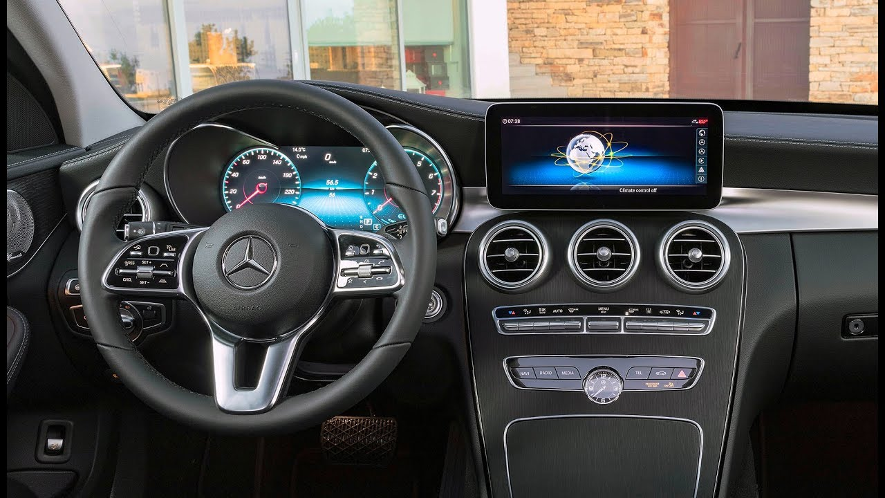 2019 C-class w205 interior after facelift - YouTube