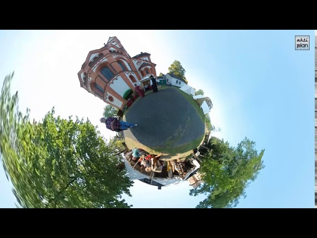 Barbarossamarkt 2020 als 360° Little Planet