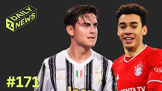 Bayern's Jamal Musiala picks GERMANY over England! + Dybala to leave Juventus!