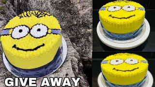 2 മണകകർ കണട ചയതടതത ഒര മനയൺ ത കകകeasy minion theam cake minion theam cake