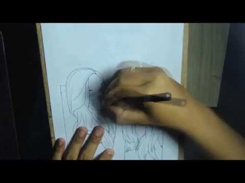 Desenhando Natasha e Nayara Rattacasso em Manga SPEED ART