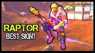 BEST SKIN IN FORTNITE: RAPTOR? (#3) | 15 Kill Win! (Legendary Skin!)