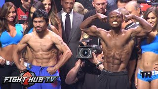 Pacquiao vs. Bradley 2: Full weigh in and face off video