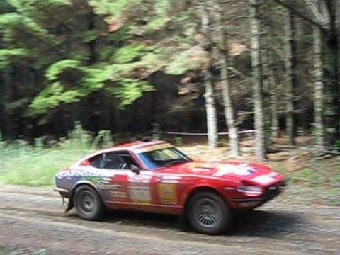 Sydney London Rally Cars Passing At Mt Canobolas