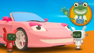 Sophie The Sports Car visits Gecko's Garage | Learn Colours For Children