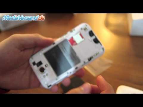 HTC Sensation XL SIM-Karte und Akku einsetzen