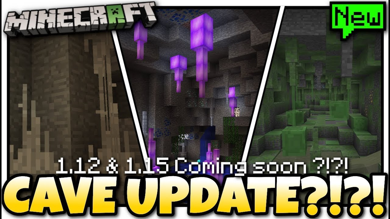 Minecraft - CAVE UPDATE ?!? Release Date - Whats in it? ( 9.92 & 9.95 )  Bedrock / Java / Console