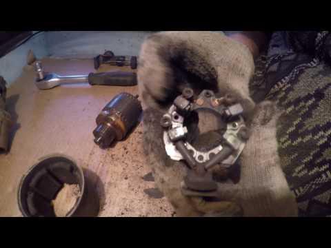 ремонт стартера Nissan( ниссан блюберд )