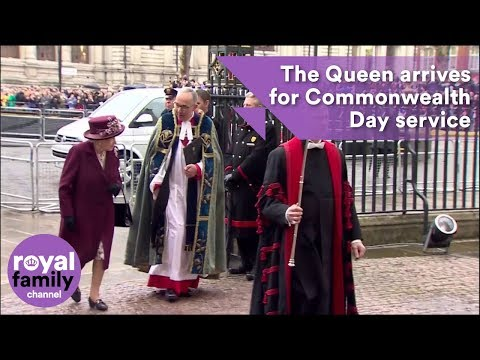 The Queen arrives for Commonwealth Day Service