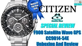 Watch Of The Year 2016! | Citizen Eco-Drive 100m Satellite Wave GPS CC9015-54E Unbox & Review